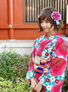お着物で浅草寺にお参りへの写真・画像素材[1773262]