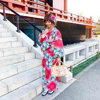 浅草寺に着物をレンタルしてお参りへの写真・画像素材[1773267]