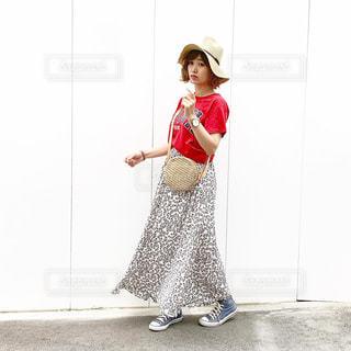 ママの運動会コーデの写真・画像素材[2180893]