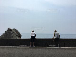 風景,海,空,人物,兄弟