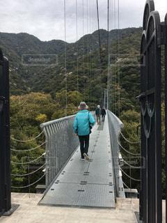 風景,空,山,人物,吊り橋,日本一