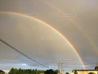 背景の虹の写真・画像素材[2545155]
