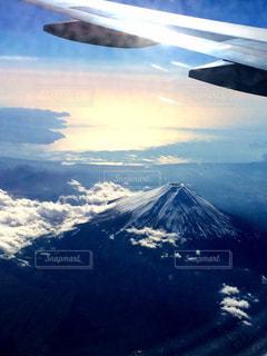 富士山と雲の写真・画像素材[2411776]