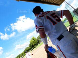 野球姿の写真・画像素材[2139004]