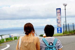 自然,風景,空,屋外,後ろ姿,景色,人物,背中,人,後姿