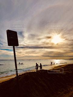 海,屋外,ビーチ,雲,光,旅行,ハワイ,フィルム,セピア,フィルム写真,フィルムフォト