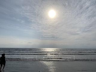 海,空,ビーチ,水面,海岸