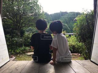 夏,縁側,田舎,子供,友情