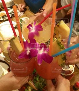 カラフル,グラス,乾杯,ドリンク,ハワイアン