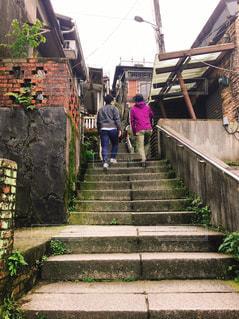 家族,風景,階段,後ろ姿,人物,旅行,台湾,九份,ライフスタイル,平渓線,レジャー・趣味