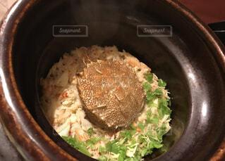 毛ガニの炊き込みご飯の写真・画像素材[3867205]