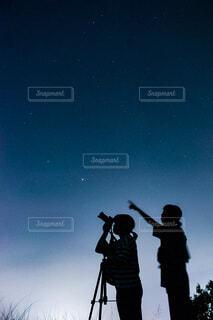 あ、流星!の写真・画像素材[3619832]