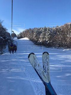 雪,白,北海道,スキー,富良野,リフト,パウダースノー