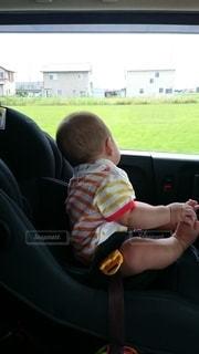 後ろ姿,赤ちゃん,座席