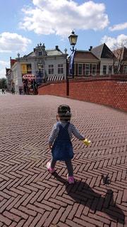 子ども,公園,後ろ姿,人物,背中,人,テディベア,ハウステンボス