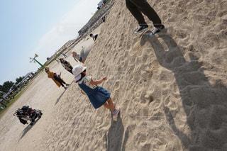 子ども,公園,後ろ姿,砂浜,人物,背中
