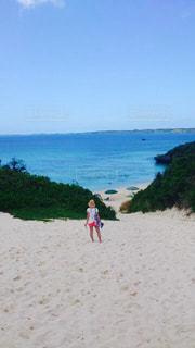 海,空,夏,ビーチ,後ろ姿,砂浜,海岸,背中,人,beach,Sky,sea,summer,砂山ビーチ