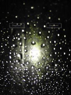 自然,夜,雨,水滴,ライト,光,明るい,ビニール傘