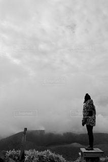 空,屋外,雲,モノクロ,黒と白