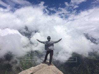 自然,山登り,エネルギー,男の背中