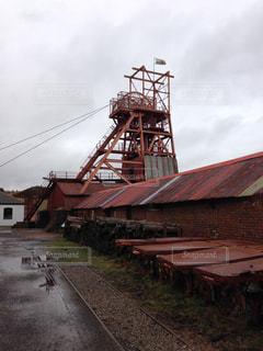 雨,水たまり,イギリス,ラピュタ,ウェールズ,ブレナヴォン産業用地