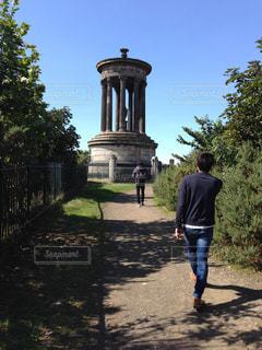 友達,エディンバラ,晴れた日,観光中,散歩というか観光