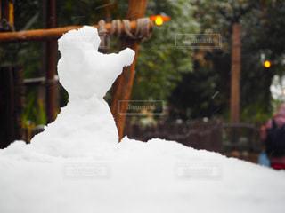 雪ダルマミッキーの写真・画像素材[2281158]