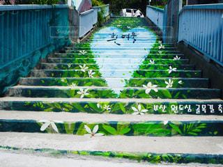 階段,ハート,韓国,マーク