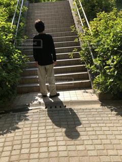 男性,風景,屋外,階段,人物,人
