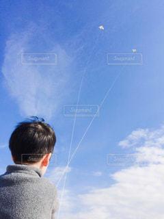 雲まで届け♫の写真・画像素材[2421974]