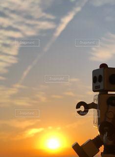 ロボット時計の写真・画像素材[2623238]
