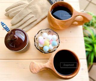 お気に入り木製マグカップの写真・画像素材[2877672]