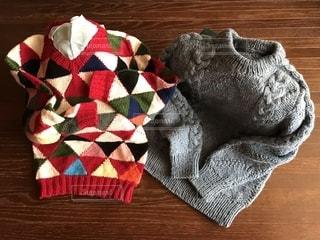 楽しく編んだセーターの写真・画像素材[2710868]