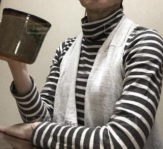 縞模様のシャツの写真・画像素材[2732369]