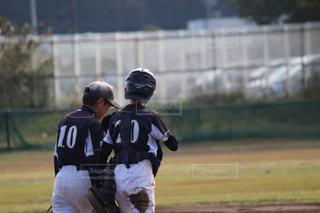 後ろ姿,野外,グランド,バッテリー,少年野球,キャッチャー