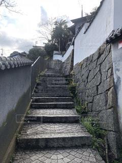 尾道の志賀直哉旧宅への階段の写真・画像素材[2155611]