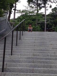 長い階段の写真・画像素材[2157397]