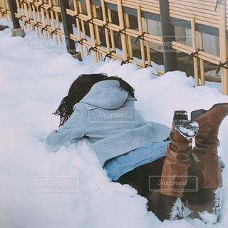 冬,雪,後ろ姿,人物,背中,人,後姿