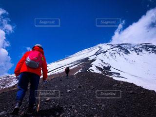女性,男性,風景,富士山,後ろ姿,山,登山,人物,背中,道,人,ハイキング,登山道