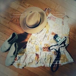 夏のお気に入りファッションの写真・画像素材[2380913]
