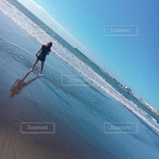 海,夏,ビーチ,後ろ姿,人,江ノ島