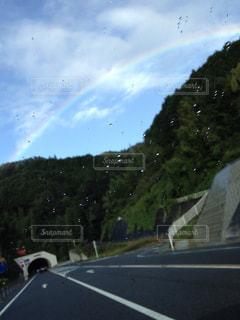 風景,虹,道路,道