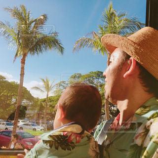 旅行,Hawaii,パパ,ワイキキ,ホノルル,父,子,ハワイ旅行,お父さん,父の日,父と子,親,6月16日