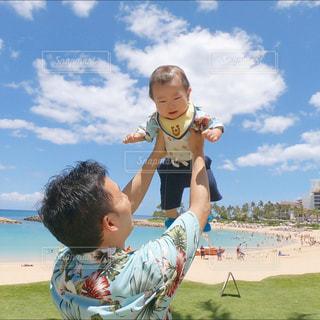 旅行,Hawaii,パパ,父,子,ハワイ旅行,お父さん,父の日,父と子,親,初めての旅行,6月16日