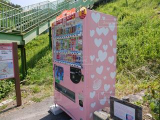 ピンク,ハート,自動販売機,マーク,恋し浜駅