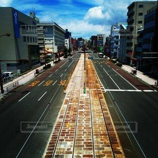 風景,空,建物,屋外,散歩,道路,道,鉄道,通り,おでかけ,長い