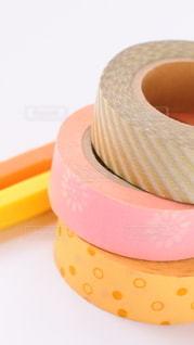 ピンクのマスキングテープの写真・画像素材[2290616]