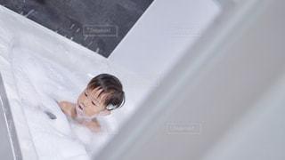 屋内,子供,お風呂,泡,男の子,バブル,泡風呂,もこもこ,あわあわ,視線なし