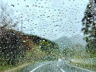 自然,空,雨,水滴,道路,雨の日