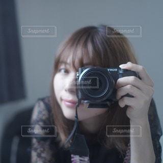 自撮りの写真・画像素材[2285493]